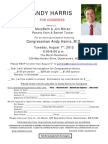 Evening Reception for Andy Harris