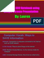 lauren laudatos tech notebook 1
