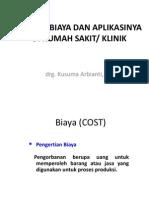 Konsep Biaya Dan Aplikasinya