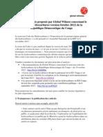Propositions de Global Witness Sur Le Code Des Hydrocarbures en RD Congo