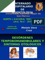 DTM y Sintomatologia Otologica