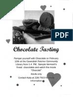 Cavendish Chocolate Tasting