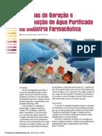 Sistemas de Geração e distribuição de água purificada na indústria farmacêutica