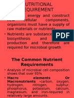 MICROBIAL NUTRITION