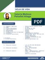 CURRICULUM ACTUALIZADO DE VALERIA MELISSA PEÑAFIEL ALIAGA