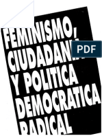 Feminismo Ciudadania y Politica Democratica