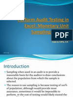 Perform Audit Testing in Excel