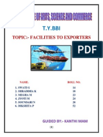 Final Project of Facilities to Exporters