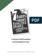 The 7 Habits - Summary