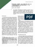 Estudios Longitudinales de Los Efectos de Malnutricion