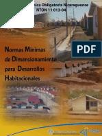 Normas Minimas de Dimensionamiento Para Desarrollo Habitacionales