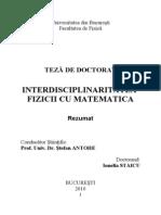 REZUMAT TEZA - Interdisciplinaritatea Fizicii Cu Matematica
