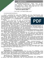 Reglamento de la Ley 29885 - Tamizaje Neonatal.pdf