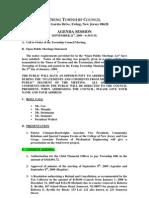2009-09-21 Council Agenda Session