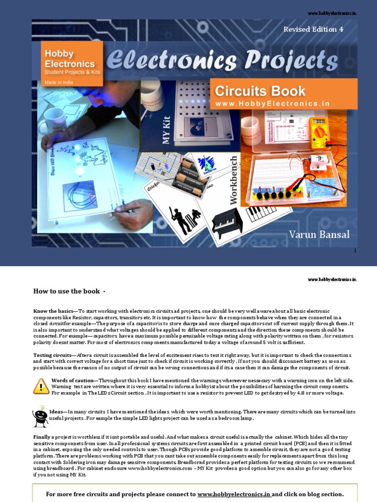 electronic projects for students Collection of simple electronics projects and circuits for students, beginners, engineering studentsthis list contains free basic hobby circuits.