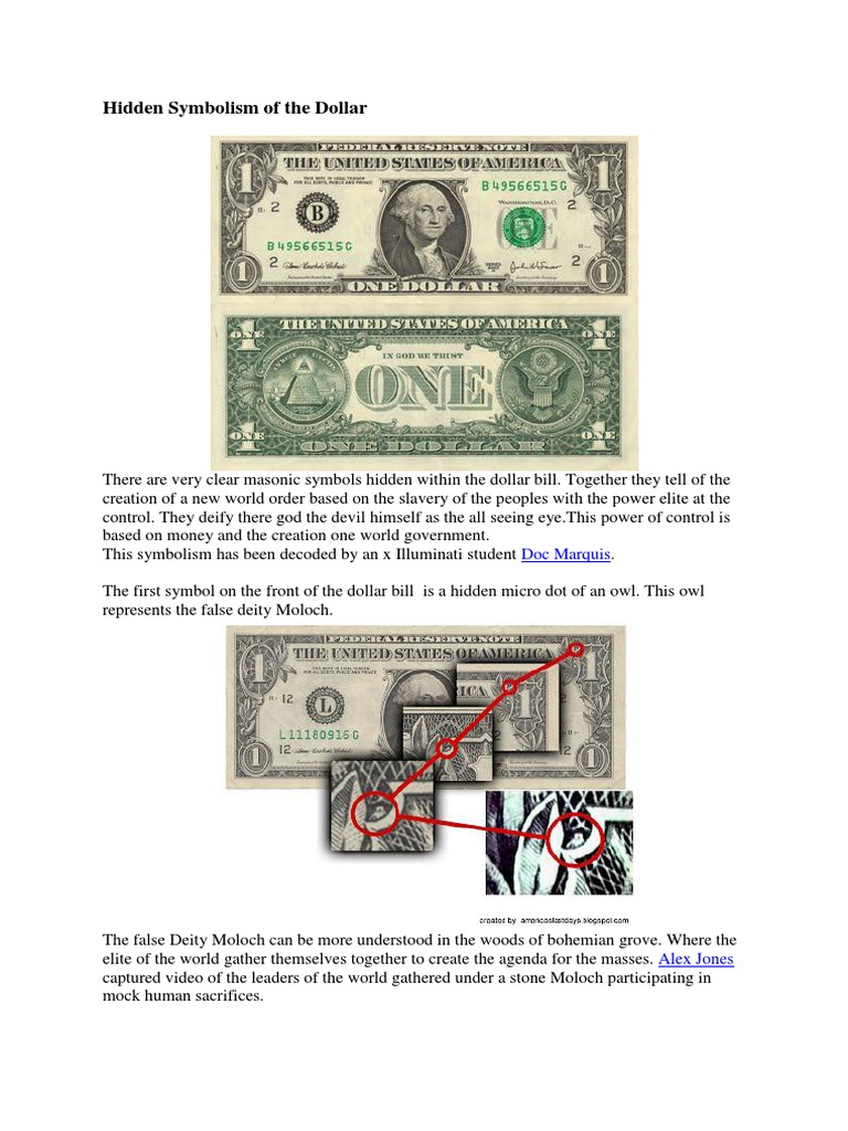Hidden Symbolism Of The Dollar New World Order Conspiracy Theory
