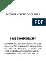 MOVIMENTAÇÃO DE CARGAS - 2013