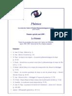 Phenice, Numero Special - Le Present