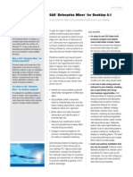 Sas Enterprise Miner Desktop Factsheet