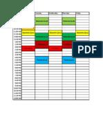Spring 2014 Generic Schedule