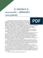 Simulare Si Disimulare-Delimitari Conceptuale 10