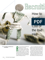 Fall 2006_Recruiting_How to Avoid the High Cost of the Bad Hire