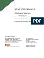 COBOL REPORT WRITER PRECOMPILER PROGRAMMER'S MANUAL