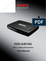 P.DG A4010G User Manual