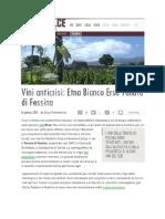 AGRODOLCE - 16 01 2014 _ Vini Anticrisi, ERSE Bianco 2012 Tenuta Di Fessina _ Di Alessio Pietrobattista