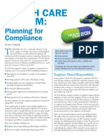 health care reform - planning for compliance jan 14