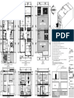 Casa Alamos Plano 1 de Medio Pliego 72cm x 50cm 2 Pisos 5.00m x 11.00m
