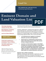 31st Annual Eminent Domain and Land Valuation Litigation, ALI-CLE Program (CV023) (Jan. 23-25, 2014) New Orleans