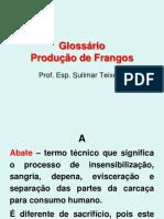 Glossário Produção de Frangos