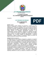 Ley de Drogas Gaceta Oficial 37510-05!09!2010
