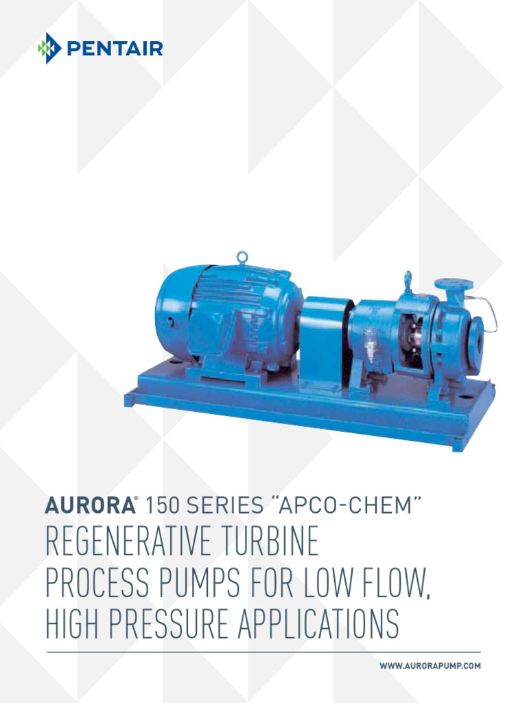 Aurora Regenerative Turbine 150 Series Brochure | Pump | Chemical
