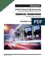Honeywell iGSMV4G & IGSMVCN4G Installallation Guide