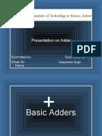 Presentation on Adder.