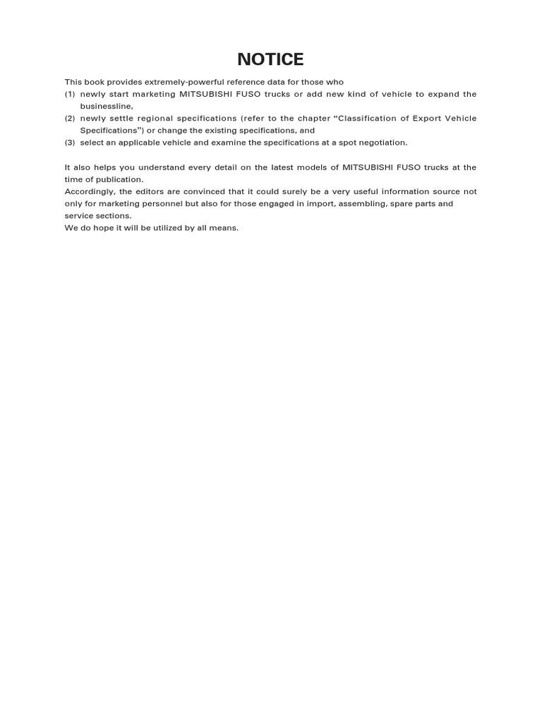 Especificaciones Basicas Canter | Truck | Horsepower