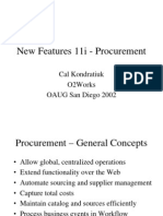 o Aug Fall 2002 New Features Procurement