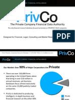 PrivCo Financial Presentation 2014