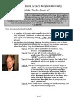 biography book report assignment sheet