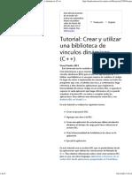 Tutorial_ Crear y utilizar una biblioteca de vínculos dinámicos (C++)