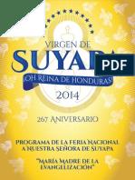 Programa_Feria-Nacional_Nuestra_Señora_De_Suyapa_2014