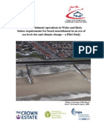Beach Nourishment Operations in Wales and Likely Future Requirements in an Era of Sea Level Rise and Climate Change 2010-CCW Science Report No 928