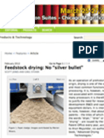 Feedstock Drying