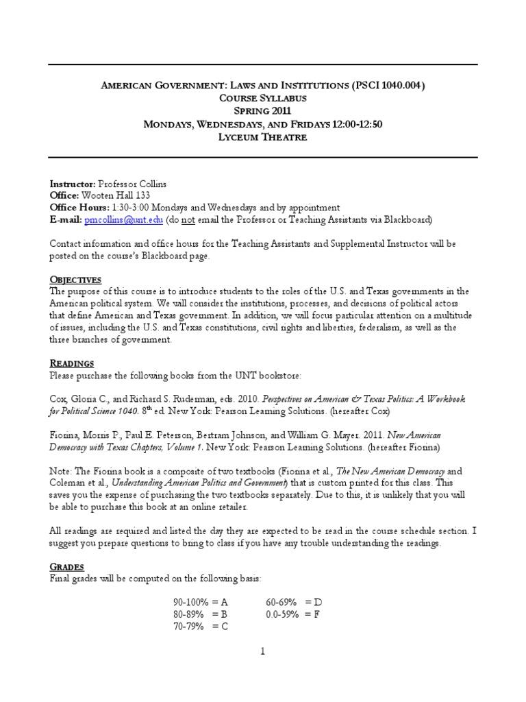 Collins PSCI Syllabus | Academic Dishonesty | Plagiarism