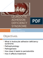 Leukocyte Adhesion Deficiency Syndrome
