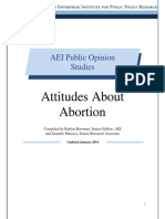 Attitudes about abortion