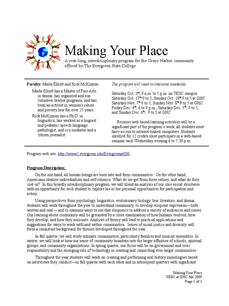 MYP F09 Ac Fair | Community | Communication