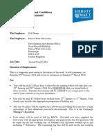 Telethon Caller Contract 2014
